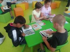 24.6.2021 Návštěva knihovny - 1. A a 1. B